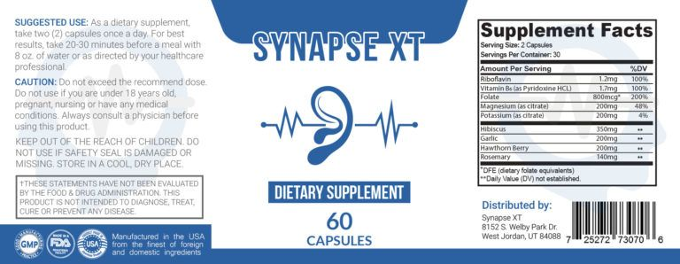 synapse xt ingredients 1