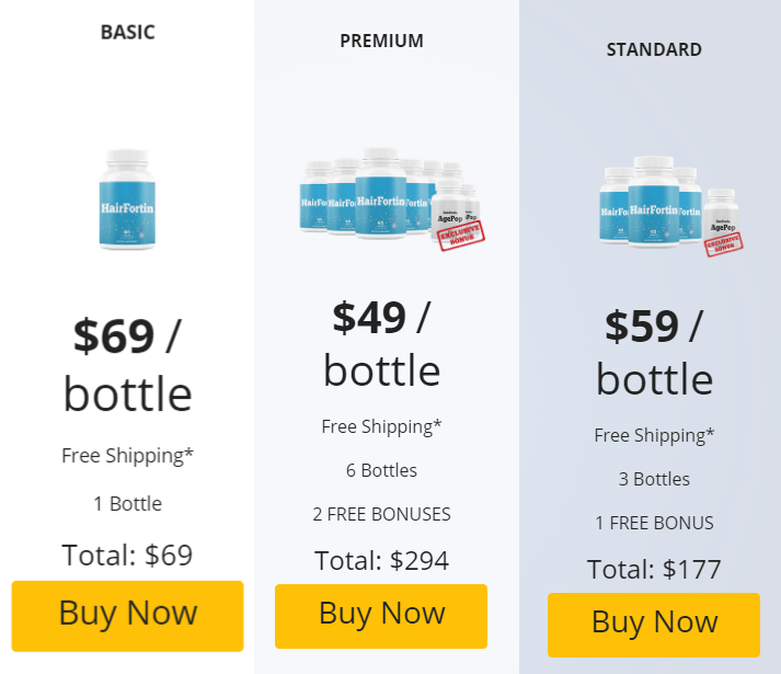 Hair Fortin pricing