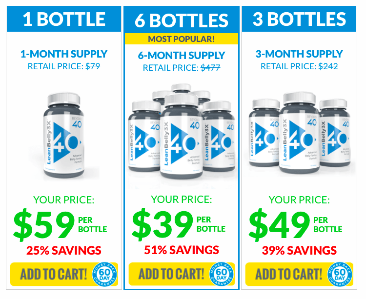 Lean Belly 3x pricing