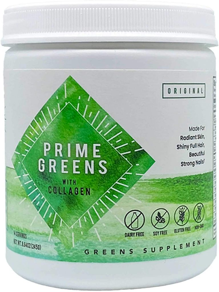 Prime Greens with Collagen - Greens Supplement Pills