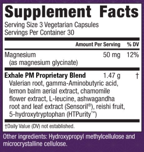 exhale-pm-ingredients, Exhale PM Reviews, Exhale PM Review, Exhale PM