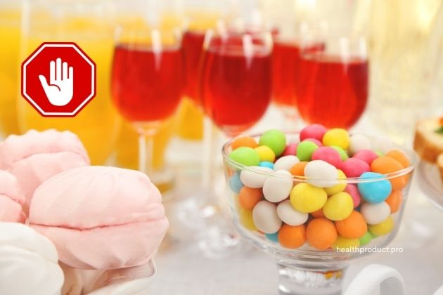 Do not consume sweetened beverages or fruit juices
