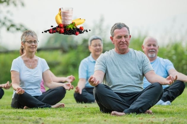 meditation and diet helps in brain fog