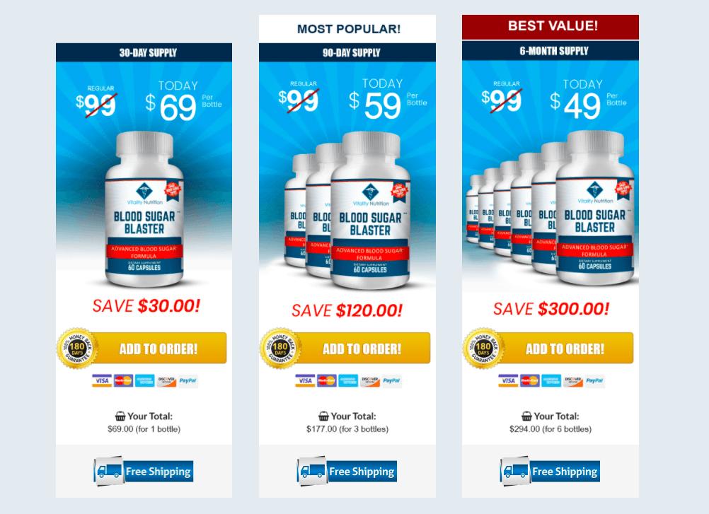 Blood sugar blaster pricing