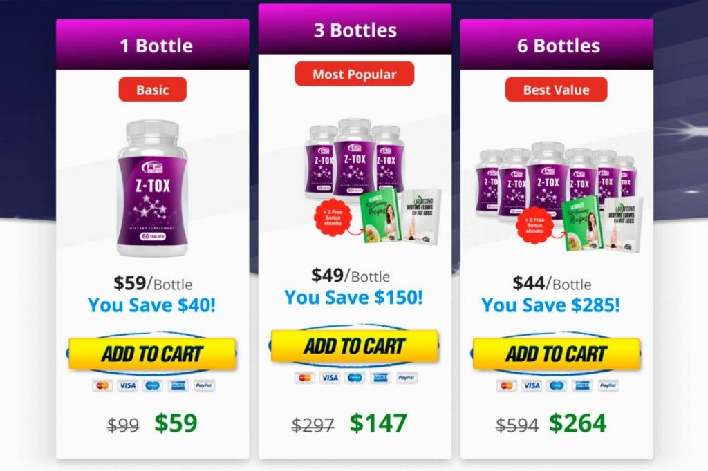 z-tox pricing
