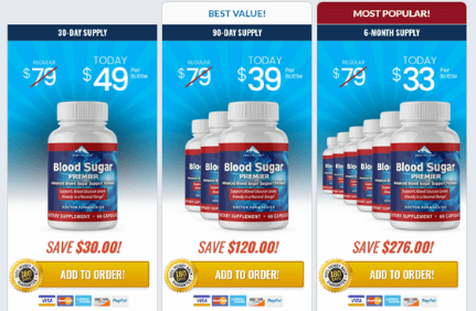 blood sugar premier pricing