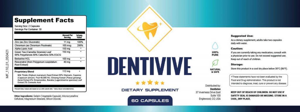 dentivive ingredients